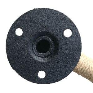 Image 5 - תעשייתי סגנון צינור ריהוט ידית אסם הזזה עץ דלת ידיות שחור עתיק בציר אירופאי יצוק ברזל חבל ידית