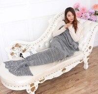 Atacado Moda Malha Padrão Crochet Sereia Vestido de Cauda de Sereia Adultos Cobertor 95*195 cm Preguiçoso Cobertor Wearable