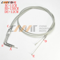 130cm 51.5 Braided Throttle Cable case for Harley Davidson Road King Dyna FLHR FLT 1996 2007
