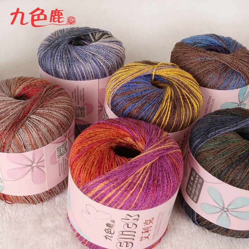 8bb993a8e ΞFree shipping 50g Ball Cotton Linen Yarn Crochet Thin Threads For ...
