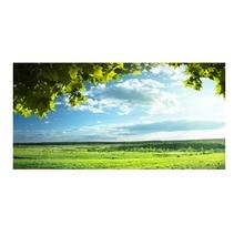 Зеленые деревья голубое небо кровать наклейка на изголовье наклейки на стену украшение дома DIY Бытовая гостиная кровать украшение комнаты Новый