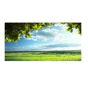 Image 1 - Yeşil ağaçlar mavi gökyüzü yatak başlığı etiket duvar çıkartmaları ev dekorasyon DIY ev oturma odası yatak odası dekorasyon yeni