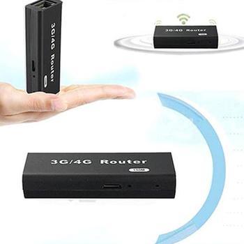 1 Set Mini Portable 3G/4G WiFi Wlan Hotspot AP Client 150Mbps RJ45 USB Wireless Router Office & School Supplies