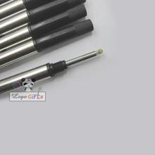 цены 6PCS/LOT brand pen refill/ gel pen refill writes smooth metal ball pen refill blue pen refills