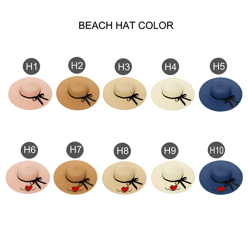 Embroidery Personalized Custom Text LOGO Embroidery Women Sun Hat Large Brim Straw Hat Outdoor Beach hat Summer Cap Dropshippin 3