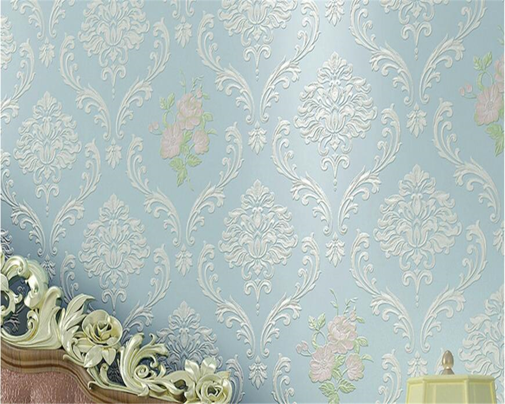beibehang High fashion non-woven wallpaper Pastoral bedroom Living room TV backdrop for home decoration papel de parede tapety beibehang wallpaper non woven home