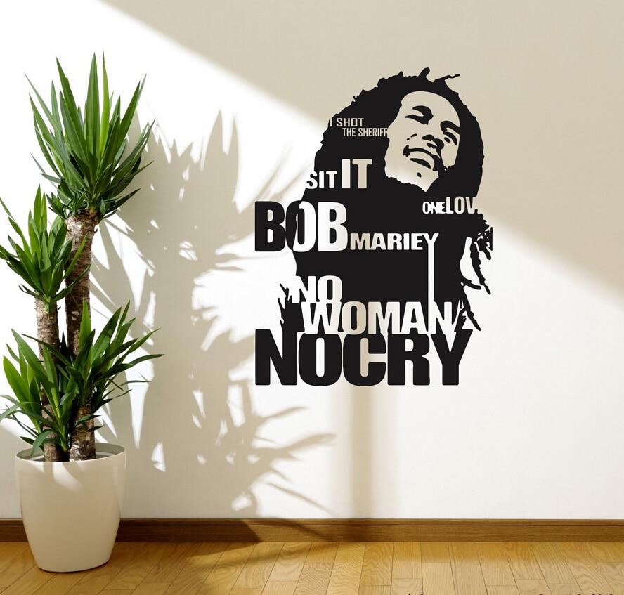 Wonderful Aliexpress.com : Buy Pinturas Murais Bob Marley Wall Decal Sticker Decor  Sticker No Woman No Cry Reggae Jamaica Bedroom Home Decor D209 From  Reliable Home ... Part 4