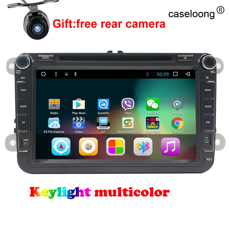 8&#8243; Quad core Android 6.0 Car DVD for VW <font><b>golf</b></font> 4 <font><b>5</b></font> 6 touran passat B6 sharan jetta caddy transporter t5 polo tiguan gps radio map