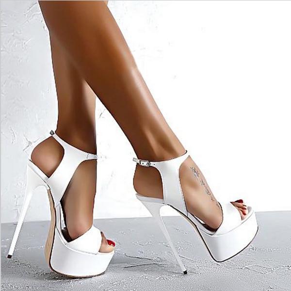 Новые 2017 Мода Peep Toe Высоком каблуке, Сандалии Сексуальные Открытым Носком 16 СМ На Высоких Каблуках Сандалии Платье Партии Женщин обувь