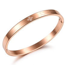 Steel Titanium Bracelet for Women Rose-gold Lady GH645