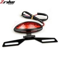 Lámpara de motocicleta Dual Cat Eye soporte para matrícula personalizado luces traseras luces de freno luz trasera luces de señal de giro Motocross