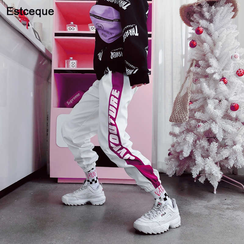 Fashion Female Hip Hop Pants High Waist Loose Harem Pants Women Slim Pants Hip Hop Casual Trouser