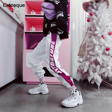 Fashion Female Hip Hop Pants High Waist Loose Harem Pants Women Slim Pants Hip Hop Casual Trouser(China)