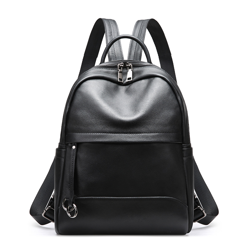 Women's new first layer leather leisure backpack Europe and American simple new volume leather leisure backpack recette merveilleuse ultra eye contour gel by stendhal for women 0 5 oz gel
