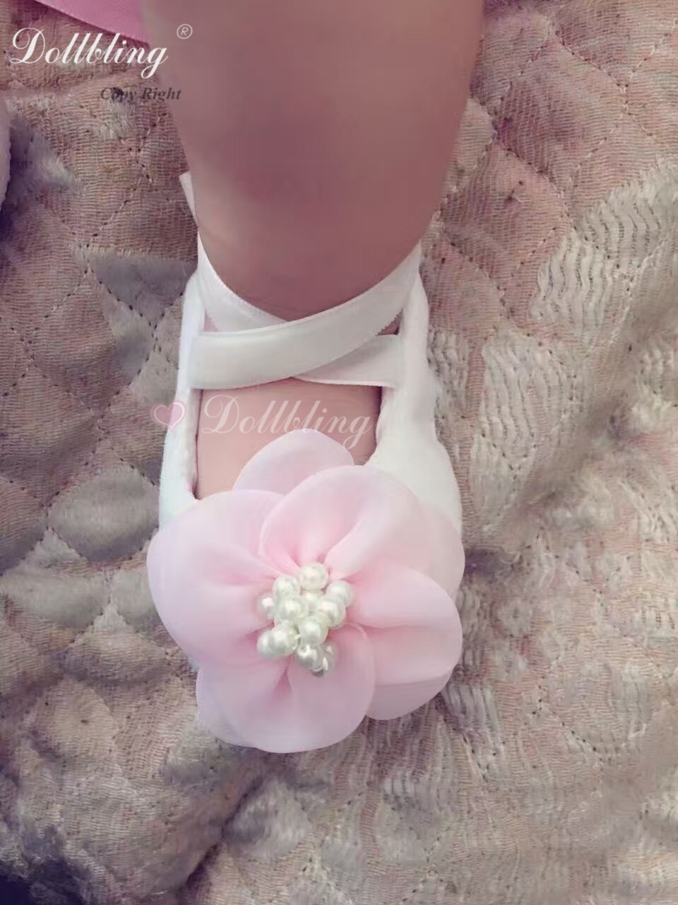 Baby Bling Boutique Pure Handmade Custom Shoes Pulsh Pink Flower Gorgeous  Elegant Outfit Match Posh Cutest Baby Birthday Crib 1992c072a940