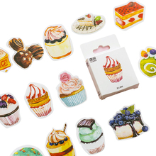 50pcs/pack Sweet Cake Sticker Pack Mini Paper Decoration DIY Ablum Diary Scrapbooking Label