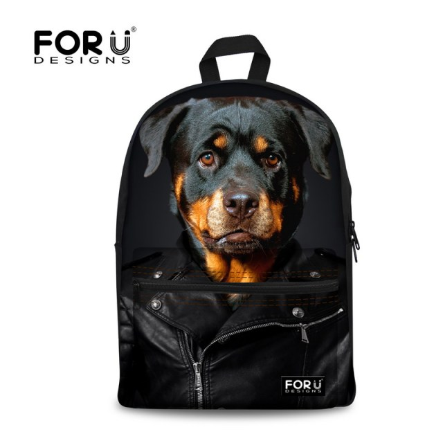 New School Bags for Girls Brand Women Backpack Mochila Feminina Cute Rottweiler Dog Print Schoolbag Children Bookbag Kid Mochila