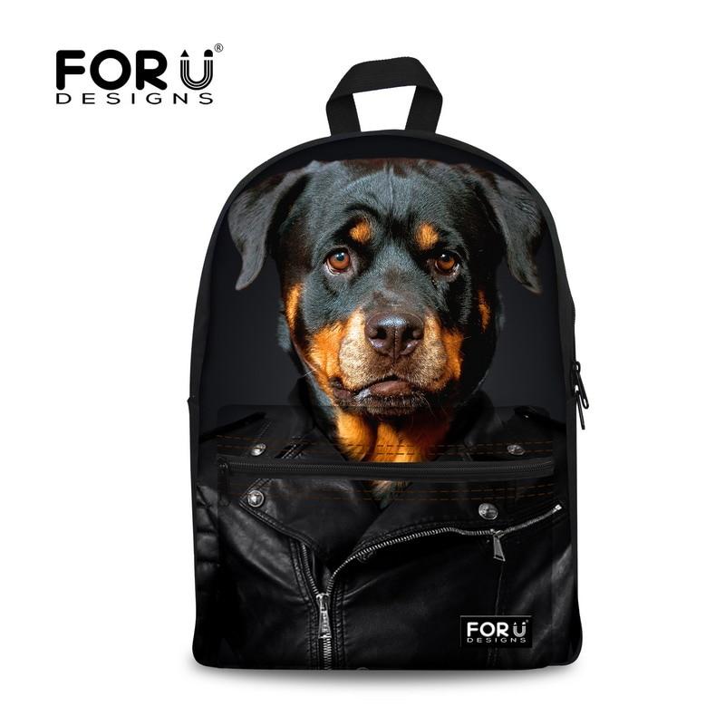 New School Bags for Girls Brand Women Backpack Mochila Feminina Cute Rottweiler Dog Print Schoolbag Children Bookbag Kid Mochila