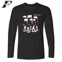 Depeche Mode T Shirts For Men Creative Printing Retro Graffiti T Shirts Long Sleeve O Neck