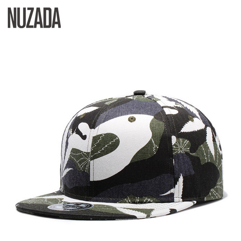 Brands NUZADA Men Baseball Caps  Foreign Trade Spring Summer Snapback Bone Cap Hip Hop Camouflage Printing Trendy Fashion Hats brand nuzada snapback summer baseball caps for men women fashion personality polyester cotton printing pattern cap hip hop hats