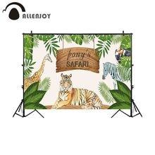 Allenjoy fotografia di sfondo safari jungle party animali tropicali sfondo fotografico prop studio photocall ritratto