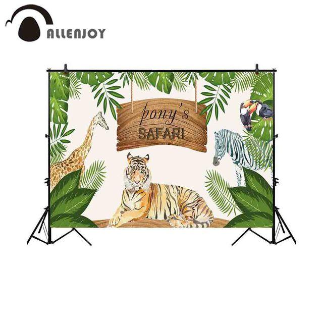 Allenjoy photography background safari jungle party animals tropical backdrop photo shoot prop studio photocall portrait