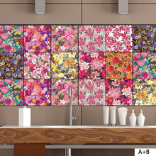 CZ048 Personalized Creative Tile Stickers Retro Style Wall Room Decoration  Wallpaper Sticker Decals