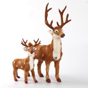 Симулятор sika Олень Игрушка натуральный мех олень жесткая модель домашнее украшение Рождественский подарок h1203