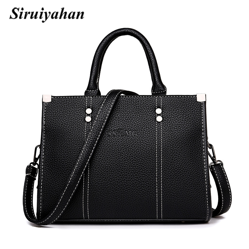 Siruiyahan Bolsa Feminina Shoulder Bag Women Bag Luxury Brand Thread Satchels Women Messenger Bags Crossbody Bags for Women fashion leather women messenger bag cowhide shoulder bag women satchels crossbody bag bolsa feminina