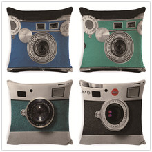 FOKUSENT Camera Pattern Decorative Cushion Cover inches Square Throw Pillow Cover Pillow Case Home Office Sofa Waist Cushion eye pattern back cushion cover throw pillow case