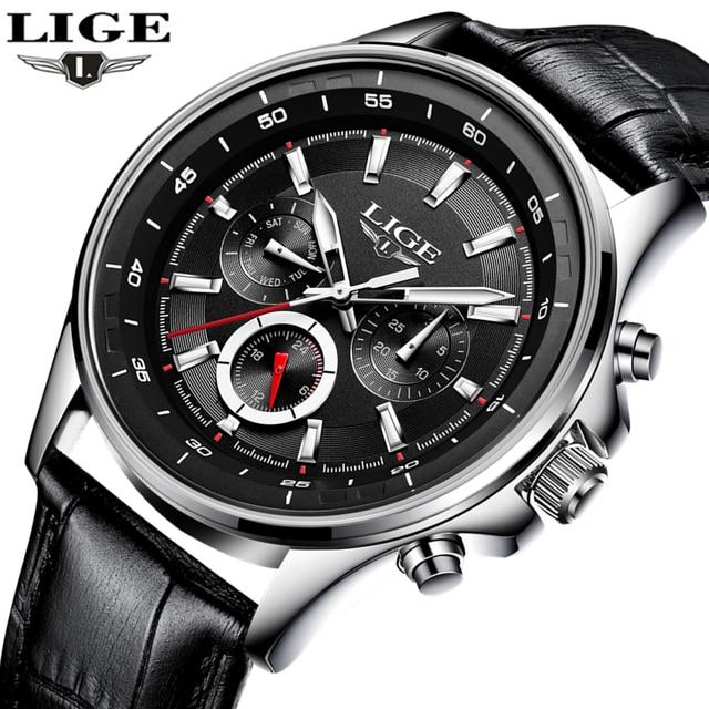 LUIK Horloge Mannen Mode Sport Quartz Klok Heren Horloges Top Brand Luxe Lederen Business Waterdichte Horloges Relogio Masculino
