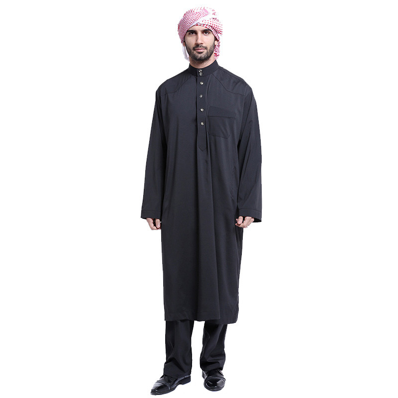 Arabska oblačila moška tkanina moška islamska oblačila muslim - Nacionalni oblačila