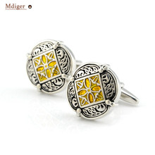 Mdiger Totem Printed Cuff Links for Bridegroom Shirt Button Hollow Cuff Links Male Gemelos Cuff Studs Abotoaduras Jewelry