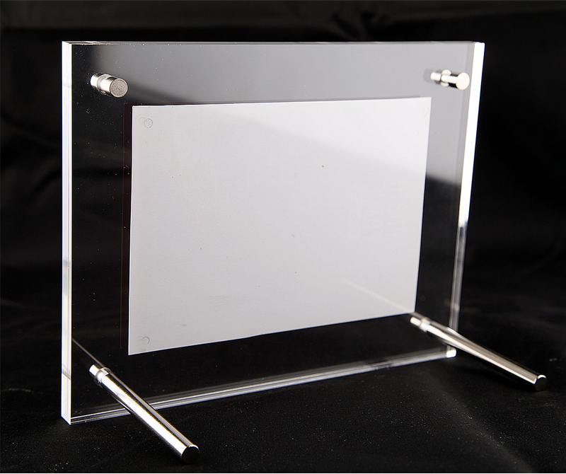 Free Standing L frames Screw Clear Acrylic Certificate Holders with ...