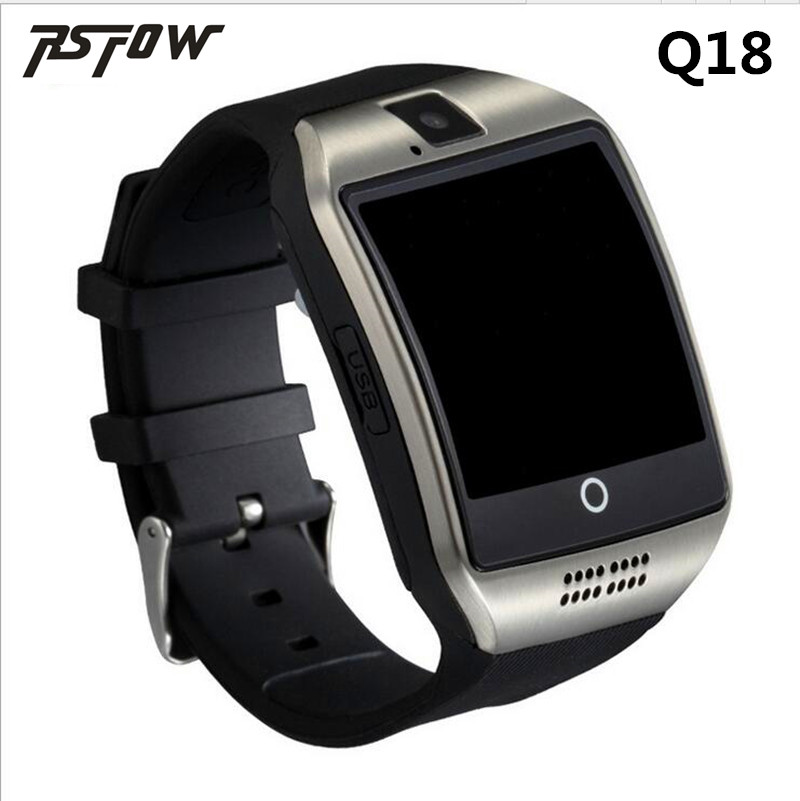 Bluetooth Smart Watch Q18 Intelligent Clock For Android Phone With Pedometer Camera SIM Card Whatsapp Call Message Display pk A1
