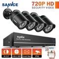 Sannce sistema cctv 8ch 720 p 1080 p hdmi dvr 4 unids 720 p impermeable al aire libre ir cámaras de seguridad cctv kit de vigilancia home