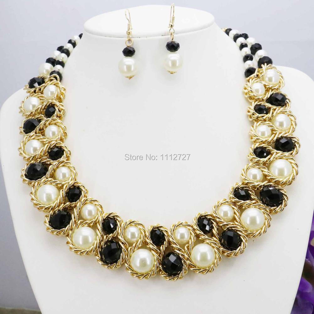 Special Offer Crystal Imitation Pearl Necklace Loog Chain Charming For  Women Girls Gifts Wholesale Unique Design 18inch 3rows