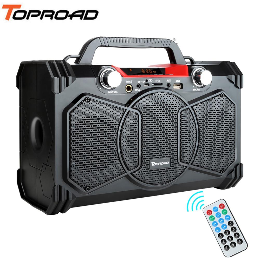 30W Bluetooth Speaker Portable Wireless Big Power Speakers Soundbox With Remote Control Support FM Radio MIC TF AUX USB