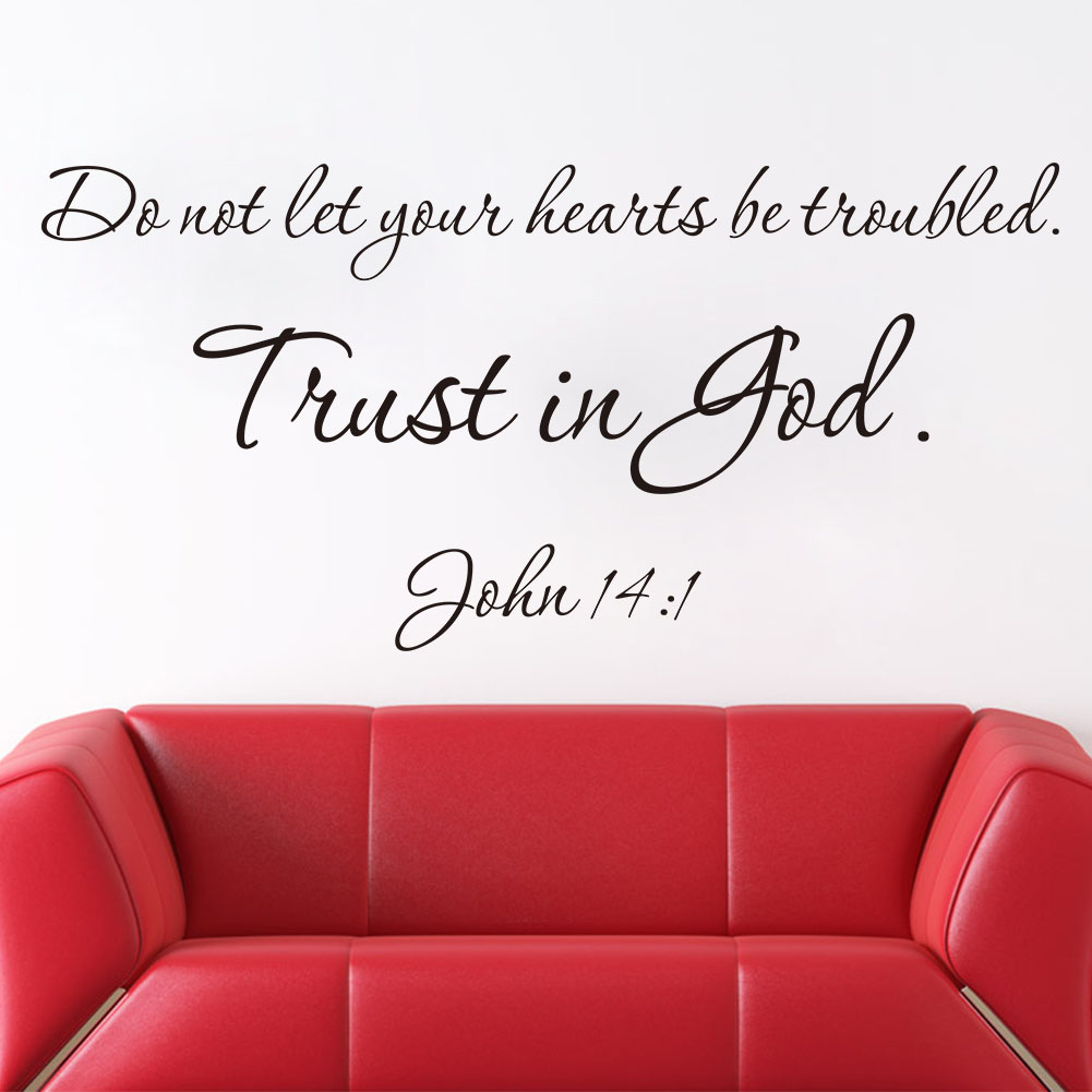 New new designs christian quote wall decals trust is god for Wall decals for home