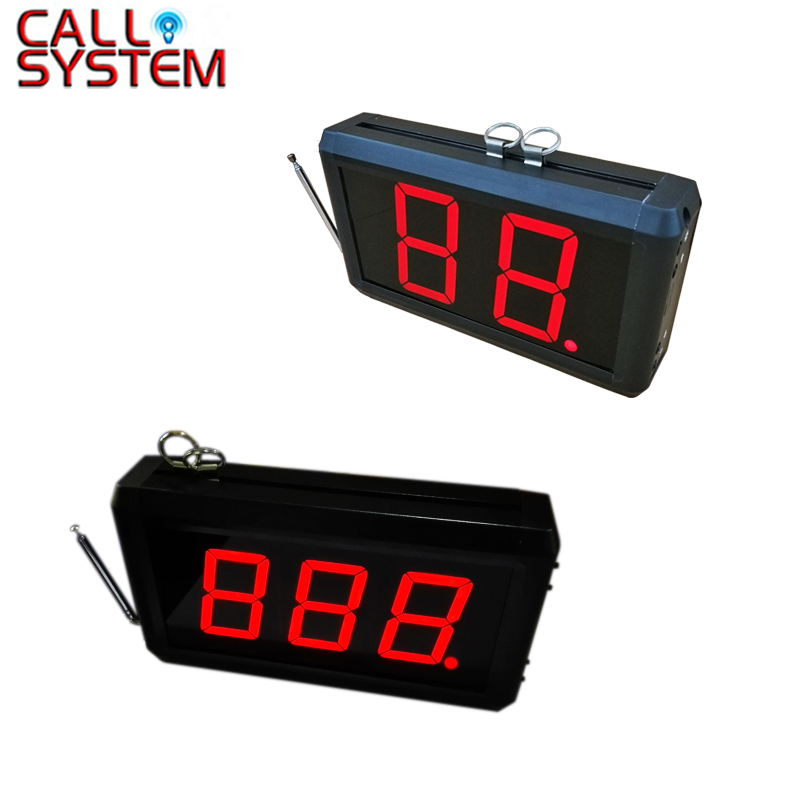2 digit or 3 digit Display Receiver Host Voice Reporting Broadcast Restaurant Pager Wireless Calling System