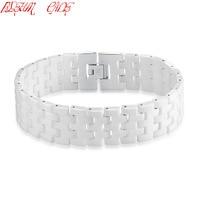 BLEUM CADE Top Quality 316L Stainless Steel Bangle Fashion Women Men Jewelry Enamel Vintage Bracelets Bangles