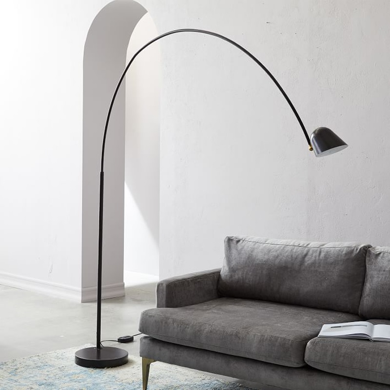 Spain Design Floor Lamp with Long Arm / Adjustable Light Head / Task Lighting