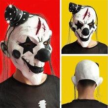 Owen Clown Maske weiß schwarz nase clown maske realistische Partei Maskerade Rubber latex maske Kostüm Cosplay Gesicht Masks-8z