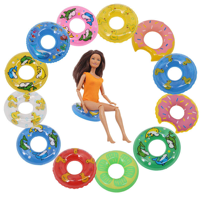 12 Gaya 3 Buah Renang Cincin, Cocok untuk 11.8-Inch Amerika Boneka Aksesoris boneka Bayi Mainan Hadiah