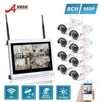ANRAN P2P 12 Inch LCD Screen 8CH WIFI NVR 24 IR Outdoor Waterproof 1 3MP 960P
