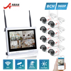 ANRAN P2P 12 Inch LCD Screen 8CH WIFI NVR 24 IR Outdoor Waterproof 1 3MP 960P