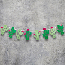 1Set DIY Party Banners Decoration Mexican Cactus Birthday Festival Flags Halloween Easter Anniversary Wedding Supplies