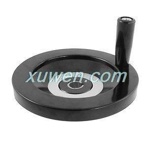 1 шт. пластиковая Вращающаяся ручка 16 мм x 160 мм Задняя рябь ручное колесо черный для бесплатной доставки
