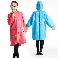 QIAN Undurchlässig Kinder Regenmantel Mantel Jungen und Mädchen Kinder Nette Cartoon Regen Poncho Mit Kapuze Elastische Band Wasserdichte Regen Jacke