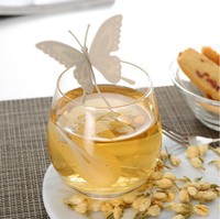 Butterfly Tea Bags Strainers Silicone Teaspoon Filter Infuser Cute Teabags